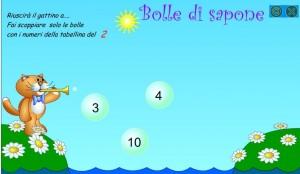 BOLLE DI SAPONE TABELLINE