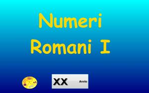 immagine numeri romani per sito
