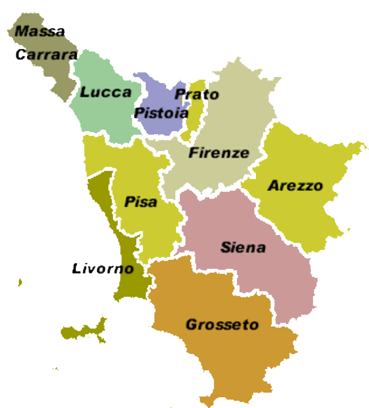 Cartina Toscana Da Stampare.La Toscana La Mia Maestra