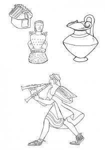 etruschi disegni da colorare