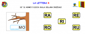 sillabe con R