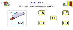 sillabe con L